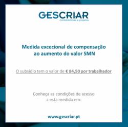 Medida excecional de compensação ao aumento do valor SMN_GESC.